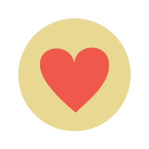 An illustration of a red heart.