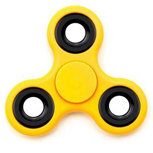 a yellow fidget-spinner