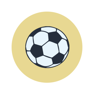 An illustration of a soccer ball.