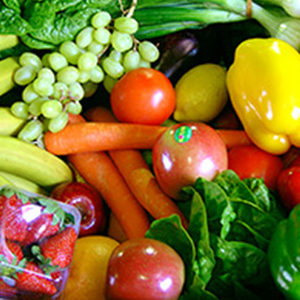 An assortment of fruits and veggies