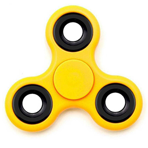 a yellow fidget-spinner